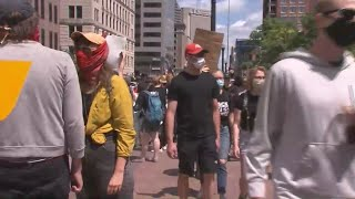 Protesters assemble in downtown Columbus Saturday