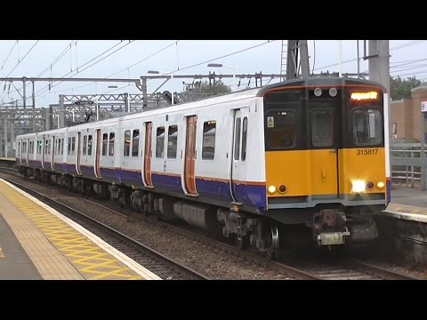 London Overground 315817 Transport For London & TFL 315836 At Bethnal Green