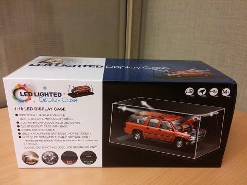 LED LIGHTED Display Case 1:18