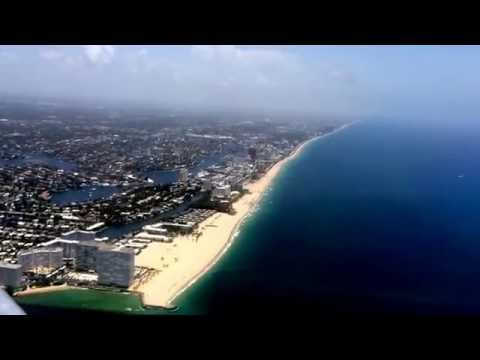 Aerial view of Broward County, FL beaches