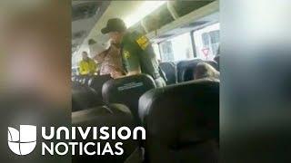 """""""Iban asiento por asiento pidiendo un ID"""": Joven que grabó a agentes fronterizos en un autobús"""