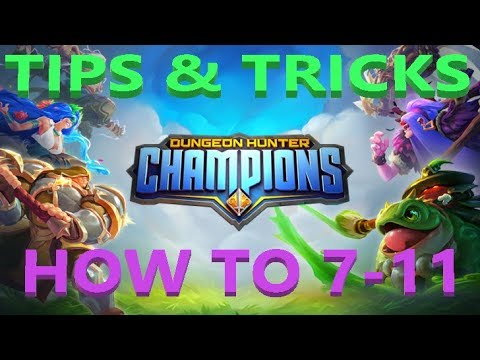 BARCODE - DUNGEON HUNTER CHAMPIONS - HOW TO 7-11 + TIPS AND TRICKS