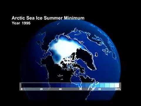 Arctic Sea Ice summer Minimum 1990 to 2049