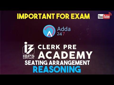 IBPS CLERK PRE | Seating Arrangement | Reasoning |  Online Coaching for SBI IBPS Bank PO