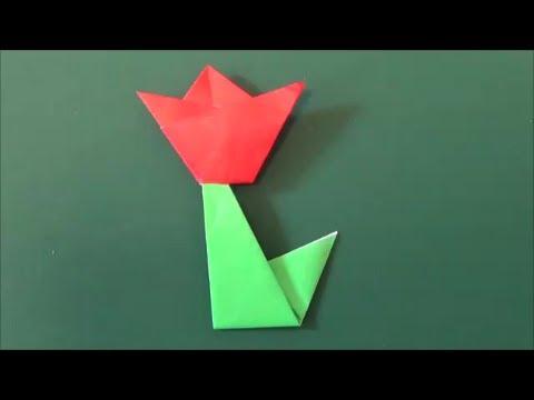 ハート 折り紙 折り紙 チューリップ 作り方 : youtube.com