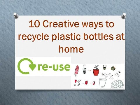 10 creative ways to recycle plastic bottles at home youtube - How to recycle plastic at home ...