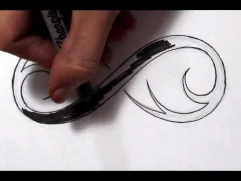 Drawing a Cool Infinity Symbol Tattoo Design – Quick Sketch