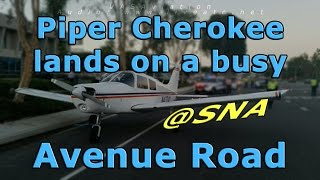 [REAL ATC] Cherokee LANDS on a BUSY STREET!!!