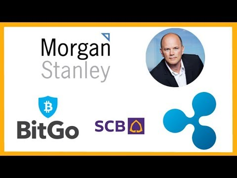 Morgan Stanley Bitcoin Swap Trading - Mike Novogratz Crypto - BitGo Custody - Siam Bank xRapid