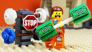 Lego Movie 2 Gym Money Fail  - Stop Motion Animation
