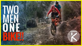 Video Two Guys, One Bike!!! Seth & Phil's Tandem MTB Adventure download MP3, 3GP, MP4, WEBM, AVI, FLV Agustus 2017