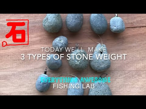 DIY Stone Ocean Fishing Weight
