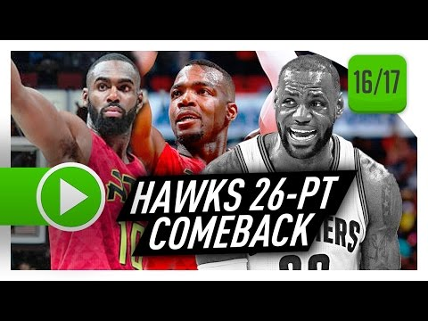 Atlanta Hawks Full Comeback Highlights vs Cavaliers (2017.04.09) - Cavs Blew A 26-PT LEAD!