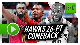 Atlanta Hawks Full Comeback Highlights vs Cavaliers (2017.04.09) - Cavs Blew A 26-PT LEAD!