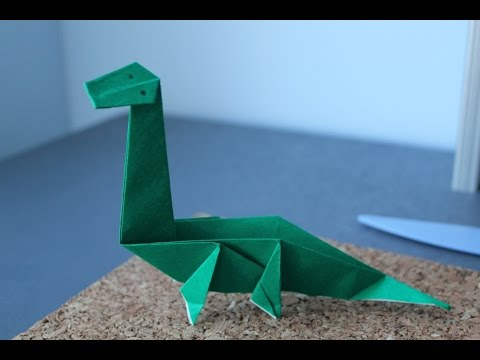 How To Make A Origami Dinosaur The Diplodocus Youtube