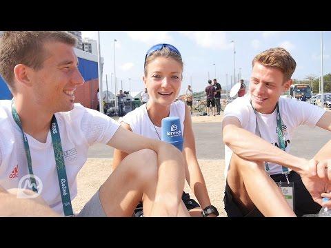 Interview mit Julian Flügel und Philipp Pflieger in Rio vor dem Marathon