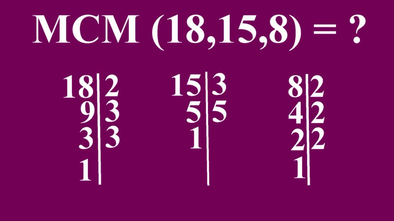 Calcular el mínimo común múltiplo (m.c.m.) de 3 números - YouTube