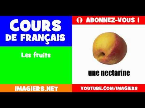 เรียนรู้ภาษาฝรั่งเศส = ผลไม้