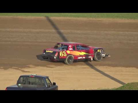 Street Stock Heat Race #3 at Crystal Motor Speedway, Michigan on 07-22-2017.