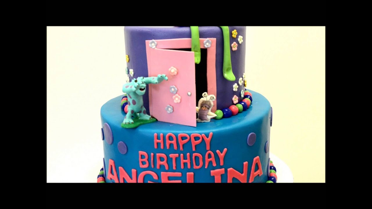 Monster Inc Theme Cake Monster Inc Birthday Cake Youtube