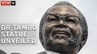 President Cyril Ramaphosa on Tuesday unveiled a nine-metre statue of Oliver Tambo in the OR Tambo international airport in Johannesburg.  #ORTambo #Ramaphosa