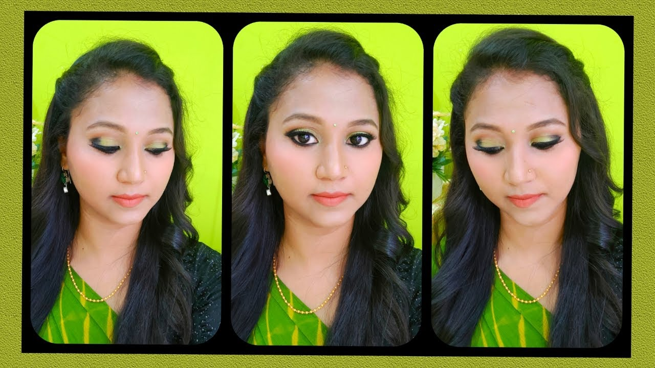 Download Green & black eye makeup in Tamil💚🖤💚