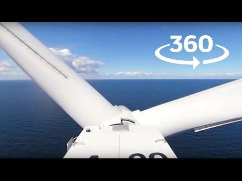 Vil du se udsigten fra toppen af en havmølle i 360°? (Brug YouTube-app'en for 360° funktionen)