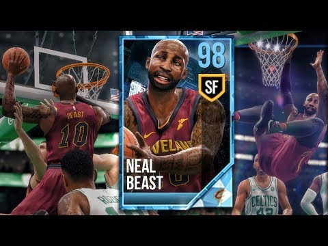 1ST PLAYOFF GAME FOR 98 OVR PLATINUM NEAL BEAST vs CELTICS! NBA Live 18 The One Career Gameplay