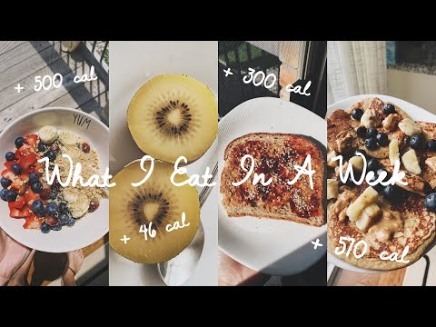 WHAT I EAT IN A WEEK (how many calories I REALLY eat)
