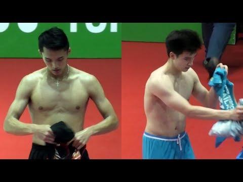 Kompilasi Atlet Ganti Baju Di Indonesia Open 2019 - Jonatan Christie, Lin Dan, Chou Tien Chen
