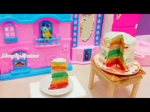 DIY MINI RAINBOW PANCAKES   Tried Buzzfeed's Viral Rainbow Crepe Cake!   MINI RAINBOW PANCAKES