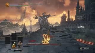 Dark Souls 3 -  Dragon Armour Boss (Umbrella Guardian) - One Punch Man