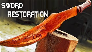 Rusted GREEK SWORD - Impossible RESTORATION thumbnail