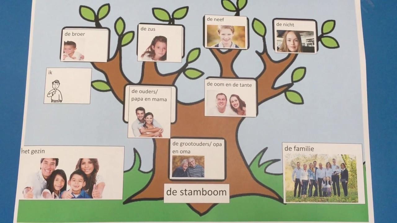 thema familie onderwerp de stamboom