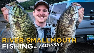 Tournament Bass Fishing for BIG Smallmouth | UNEXPECTED Clutch Catch!