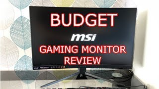 MSI Optix MAG241C Review (curved gaming monitor 144hz) plus other nice features