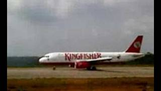 kingfisher airlines A320 landing at m