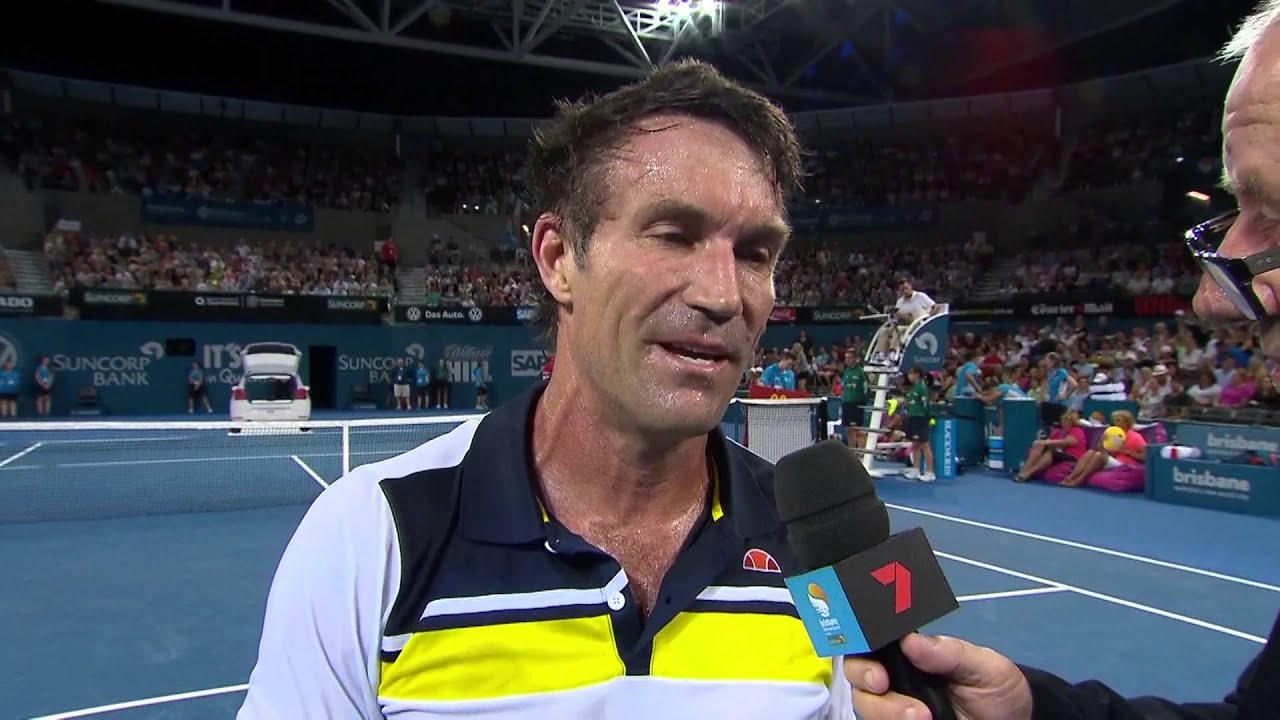 Pat Cash and Goran Ivanisevic on court interview Fast4