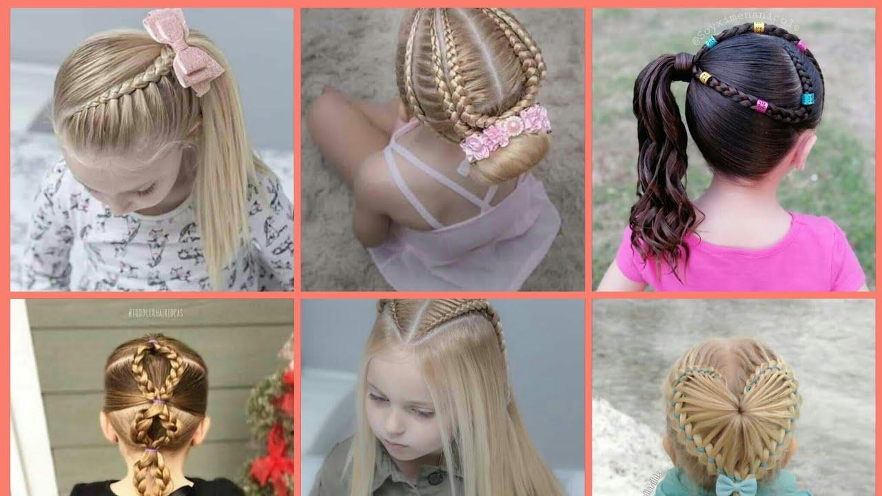 احدث تسريحات للشعر 2021 تسريحات شعر بسيطة وسهلة للأطفال تسريحات شعر للبنات روعه Youtube