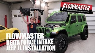 Flowmaster Delta Force Intake Install - JEEP JL - Part # 615183