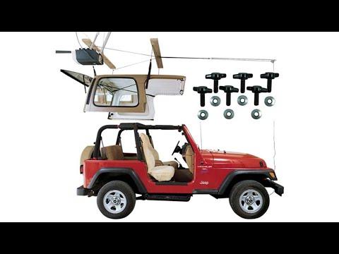 Pulley 6:1 Mechanical Advantage Wrangler HARKEN Jeep Hardtop Garage Storage Hoist with Bonus 6 T Knobs for Quick Hardtop Removal Single-Person Hanger Lift