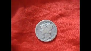 One dime Mercury  10 cent USA 1923 silver coins  numismatic collection