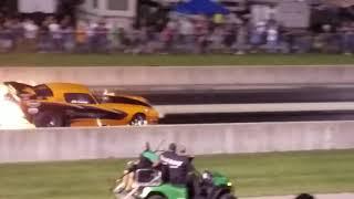 John Lawson Nitro Funny car crash 2018 US 131 Dragway