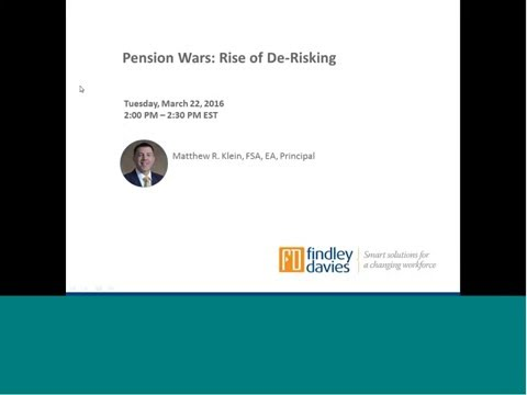 Pension Wars: Rise of De-risking Webinar Recording