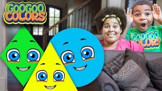Goo Goo Mom Plays The Shape Game! (Learn To Identify Shapes With Goo Goo Colors)