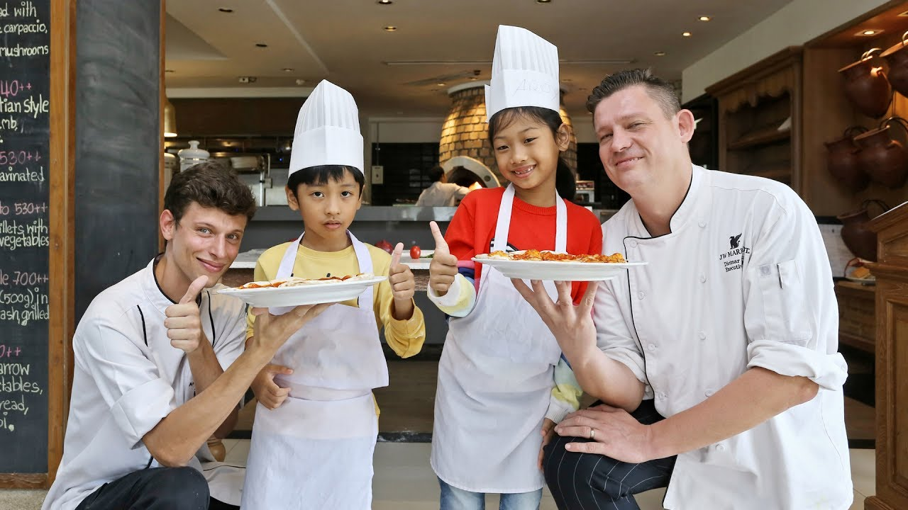 Jw Marriott Phuket Cucina Restaurant Pizza Making Workshop At An Italian Restaurant Cucina Kitchen Jw Marriott Phuket Resort Spa