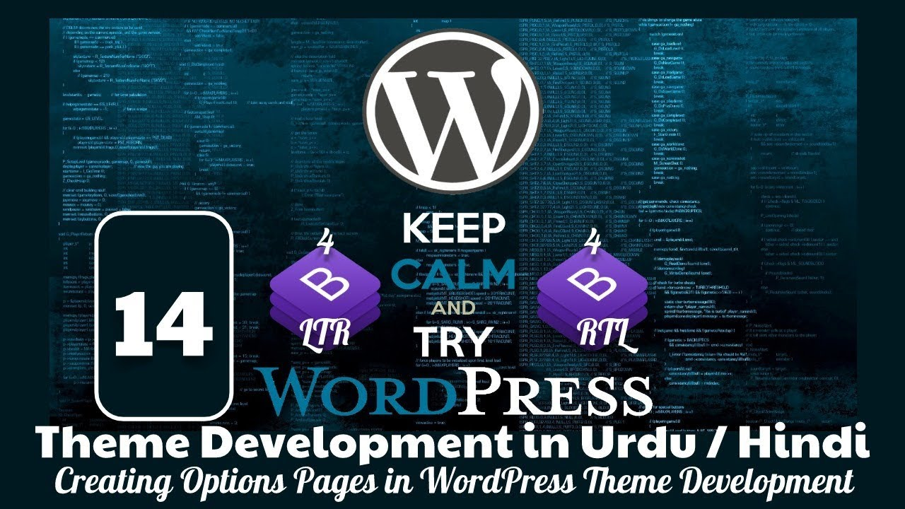 Download Part 14 WordPress Theme Development in Urdu 2019: Creating Options Pages in WordPress Admin Panel