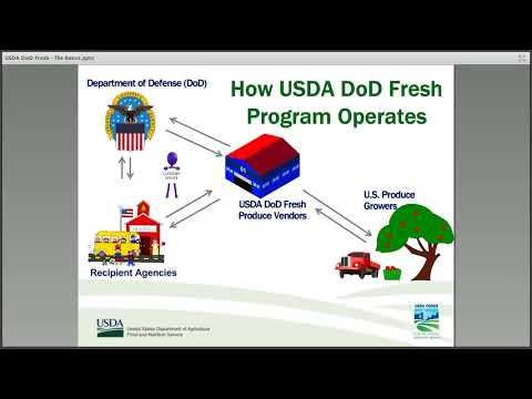 USDA DoD Fresh Fruit and Vegetable Program : The Basics for Schools
