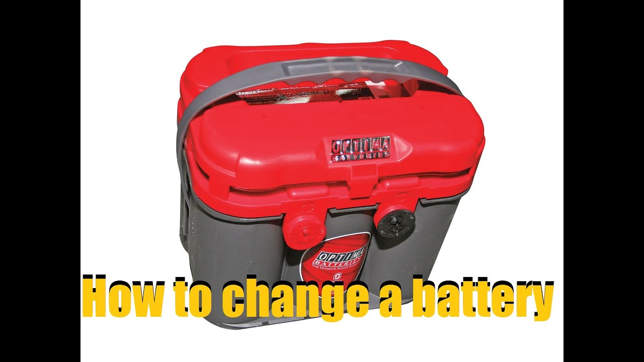 How To Change A Car Battery Optima Red Top Anthonyj350