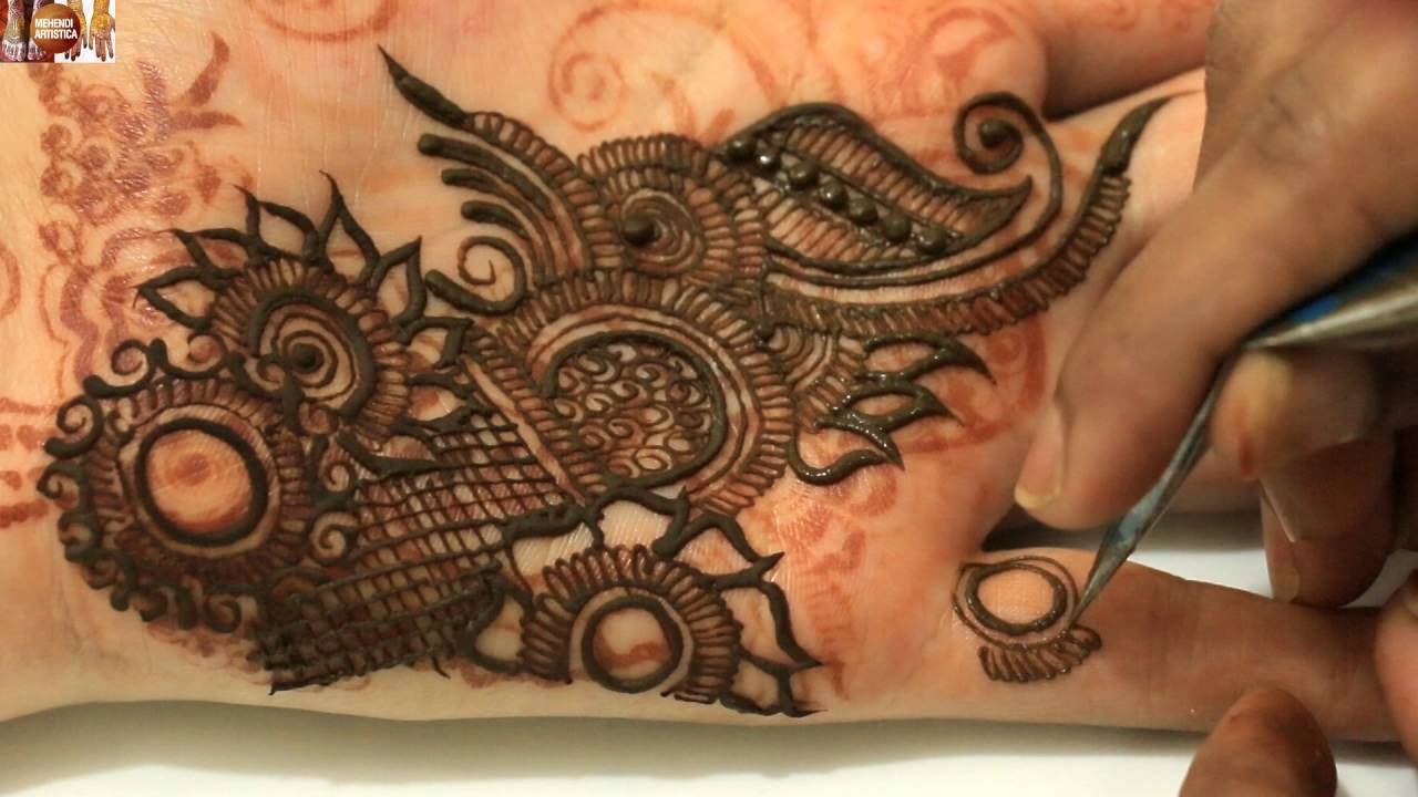 Apply Mehndi Hands : Stylist mehndi application tricks:how to design easy simple quick